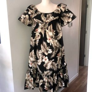 Made in Hawaii Cotton Flare Ruffled Dress XL NWOT